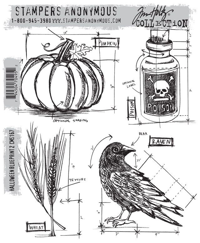 73 best tim holtz wanthave images on pinterest tim obrien tim holtz halloween blueprint cms167 july 2013 malvernweather Choice Image