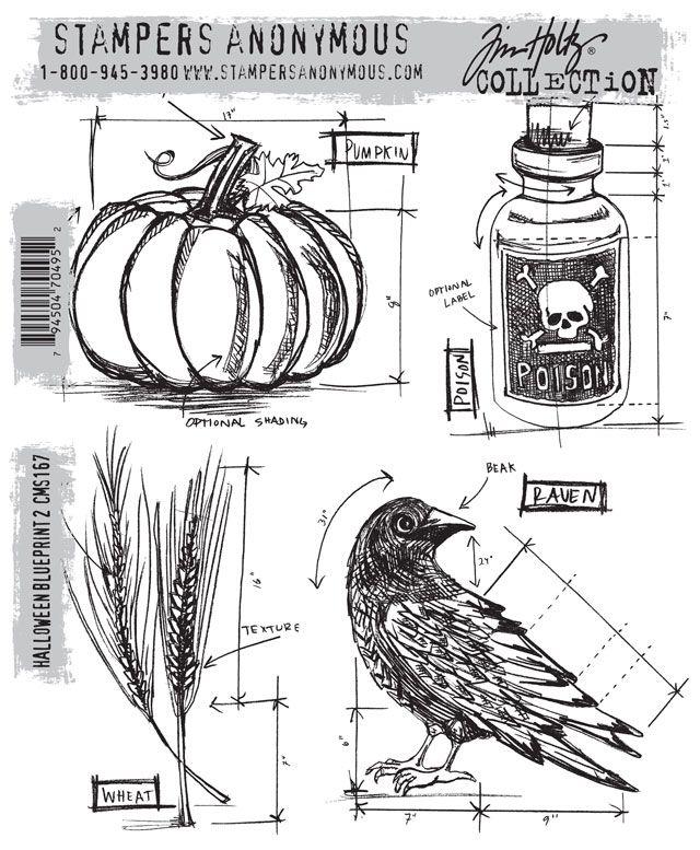 73 best tim holtz wanthave images on pinterest tim obrien tim holtz halloween blueprint cms167 july 2013 malvernweather Image collections