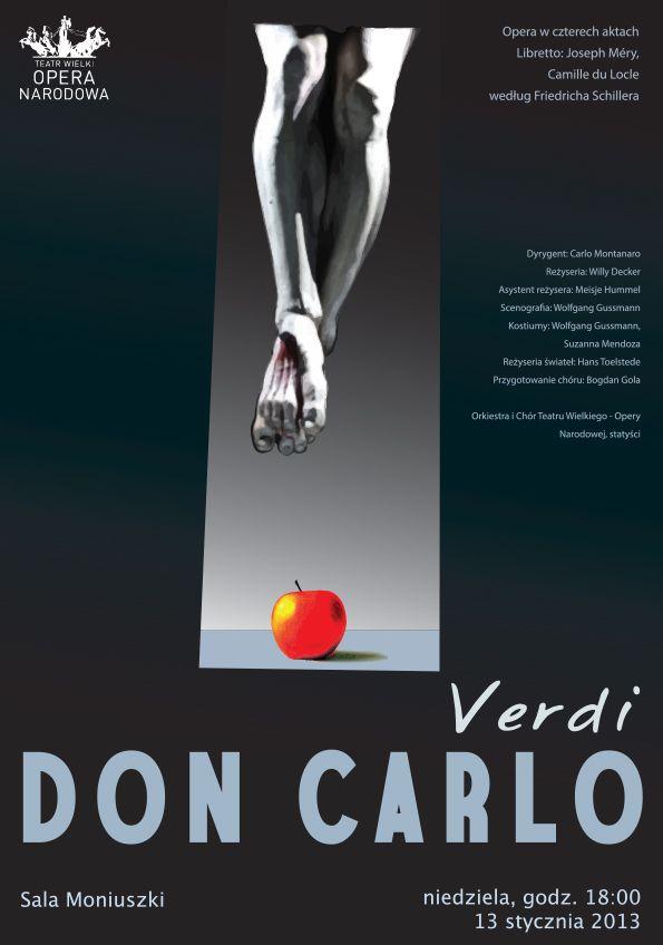 Don Carlo, Verdi, opera poster