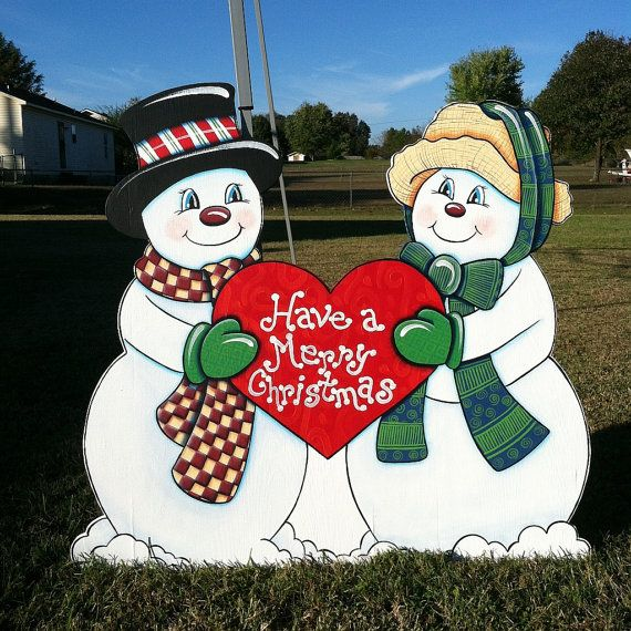 Christmas Carolers Holiday Yard Decorations By Al3001 On: Have A Merry Christmas By HuttonFoxArt On Etsy/#Christmas