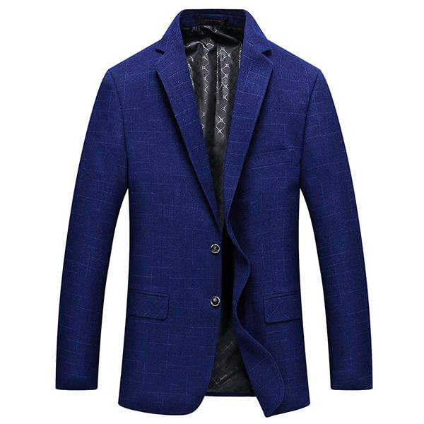 Mens Royal Blue Slim Fit Business Casual Lapel Collar Chest Pocket Coat Two Button Suit at Banggood  #men #fashion #accessories