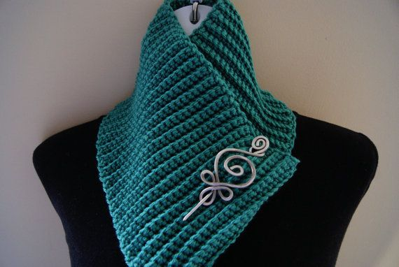 FREE SHIPPING Caribbean Blue Crochet Knit Cowl by CraftCharmer, $20.00