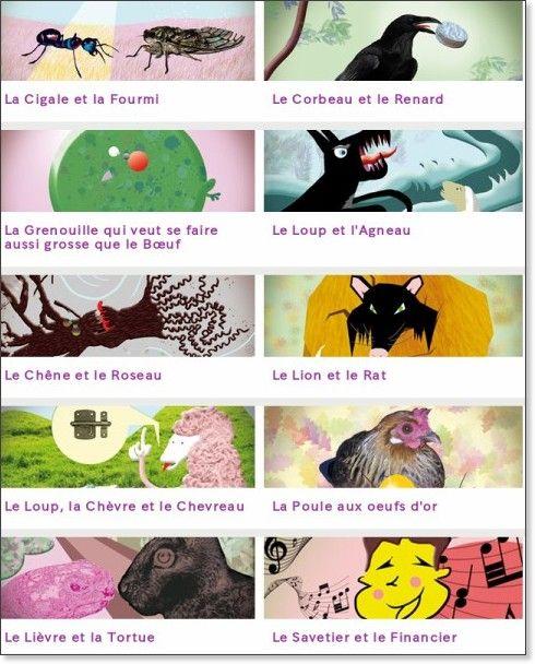 Les Fables de La Fontaine : regardez , écoutez ... lisez !