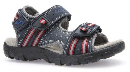 Geox Strada Navy Red Sandals - Geox Kids Shoes - Little Wanderers