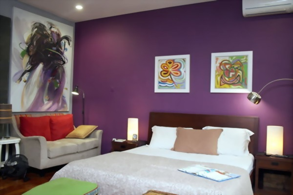 Deep purple wall for bedroom decor and more pinterest for Deep purple bedroom ideas