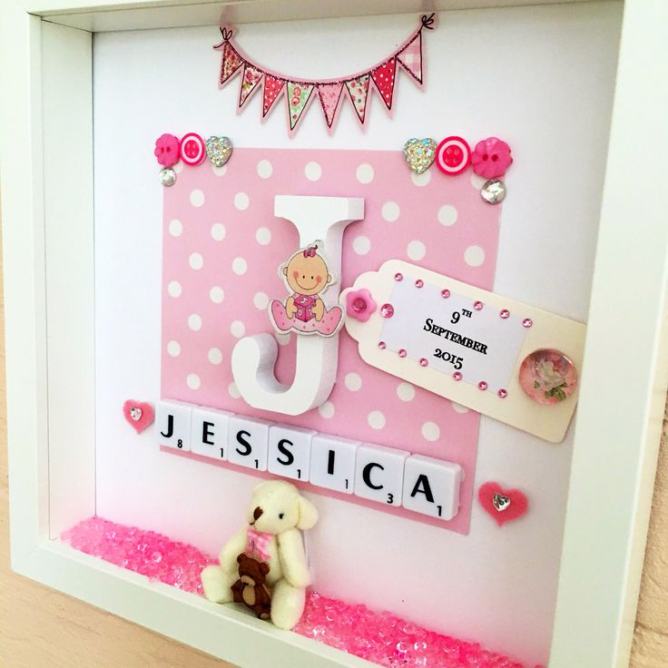 Newborn baby girl photo frames galleryimage best 25 personalised baby girl gifts ideas only on negle Gallery