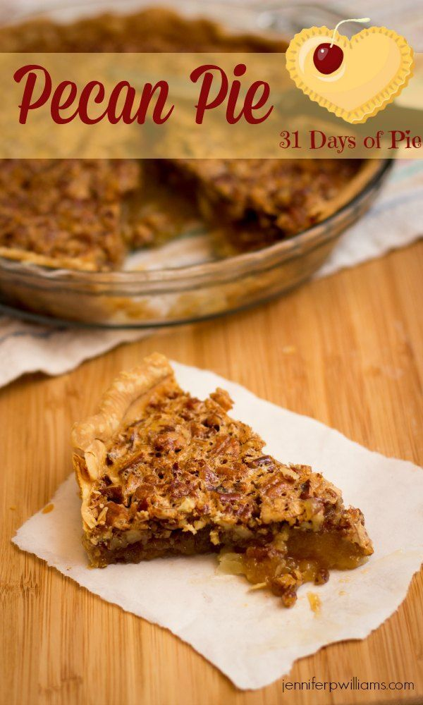 My husband says my easy pecan pie recipe is better than his mother's!