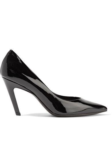 Balenciaga - Slash Patent-leather Pumps - Black - IT35.5