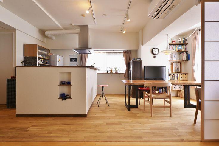 リフォーム・リノベーションの事例|LDK|施工事例No.447お気に入りのダイニングテーブルが映える、和モダンのリビング|スタイル工房
