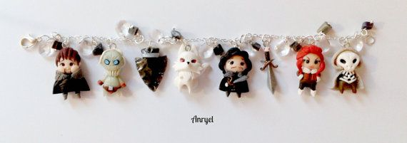 Game of Thrones FAN ART Trono di Spade  Jon Snow Bracelet