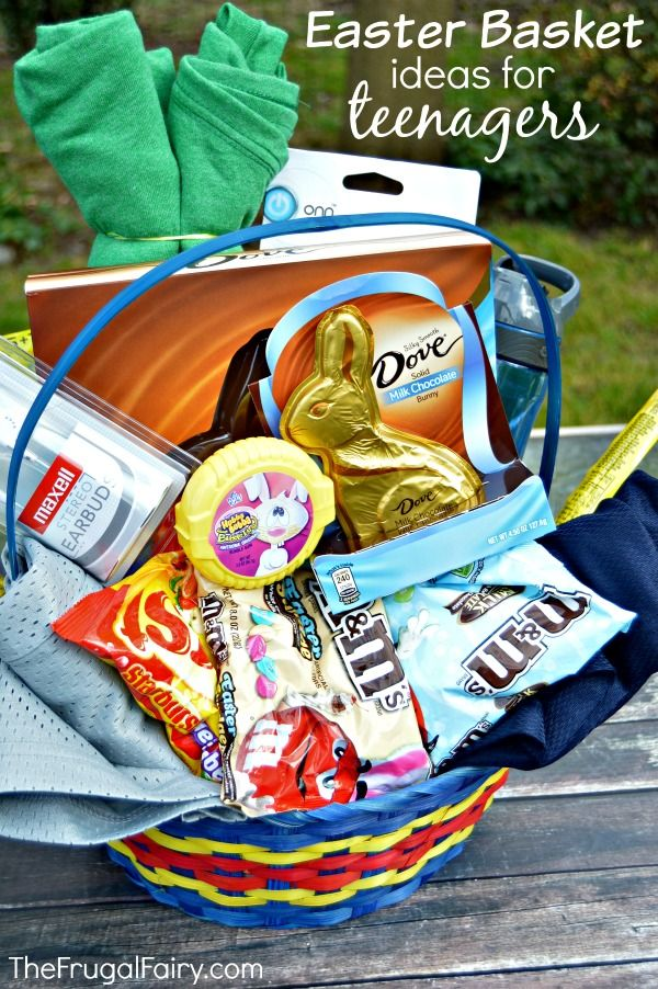 78 best easter images on pinterest easter baskets easter basket easter basket ideas for teenagers and a printable teens can have a negle Image collections