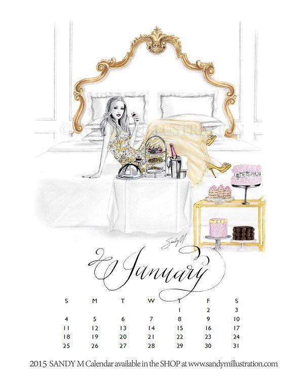 Fashion Illustration Calendar : Best sandy m calendar images on pinterest