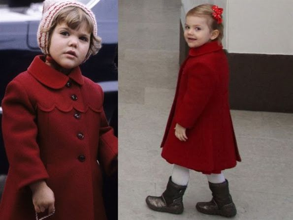 Princess Estelle wears old Coat belonging to her mother