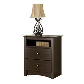 Prepac Furniture Fremont Espresso Nightstand