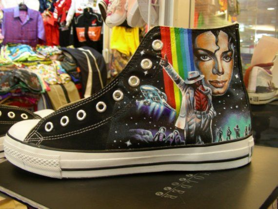 Shoes Painting Michael Jackson by WhatShop2329 on Etsy, $195.00