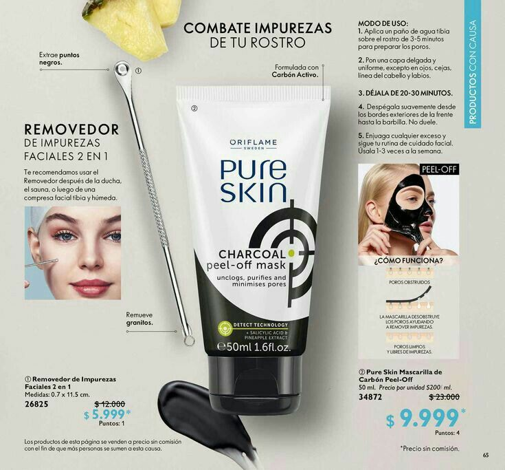 Pure Skin Charcoal Peel Off Mask In 2021 Oriflame Beauty Products Charcoal Peel Off Mask Pure Products