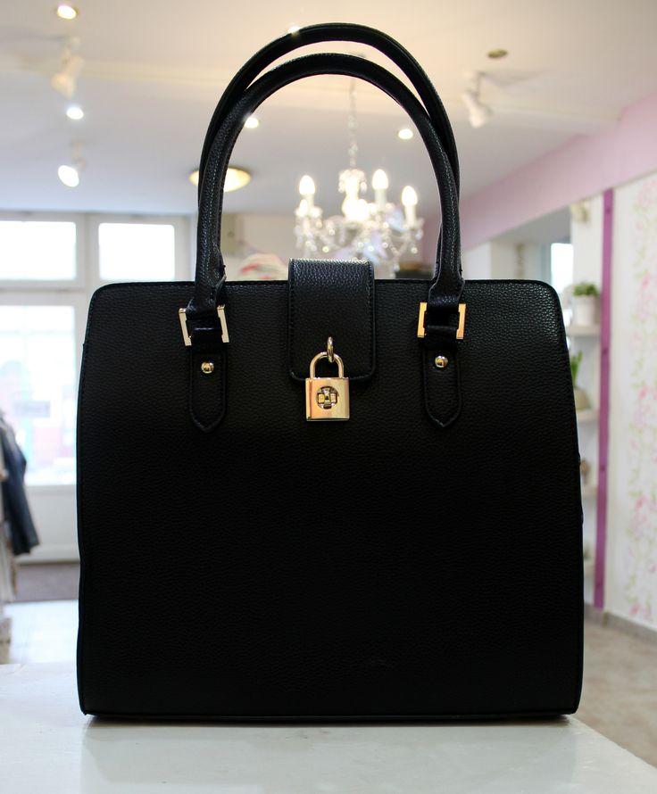 Dark bag with lock