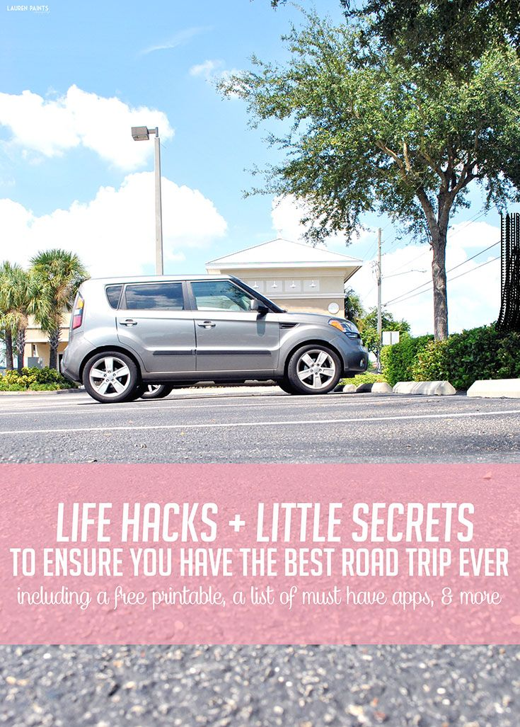 Life Hacks + Little Secrets to Ensure You Have The Best Road Trip Ever: Free Checklist Printable, List of Must Have Apps, & Find out how you can enter to win a CAR in The Best Road Trip Ever Sweeps!   #RoadTripHacks #Albertsons #ad