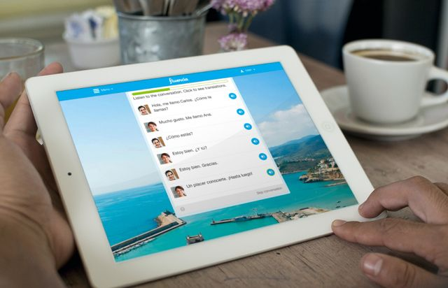 Fluencia is the easiest way to learn Spanish on a tablet or mobile phone.
