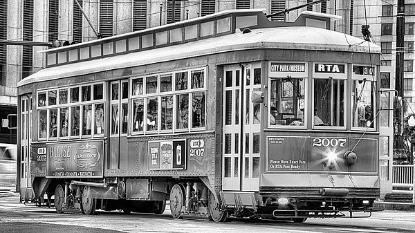 the canal street streetcar,new orleans streetcar,street car,trolly,red new orleans streetcar,new orleans,new orleans la,new orleans louisiana,nola,canal street new orleans,canal st new orleans,jc findley,canal street line,new orleans streetcars,new orleans french quarter,downtown new orleans,the french quarter,new orleans,Black and white,New Orleans streetcar black and white,Canal Street streetcar black and white,Black and white streetcar,Black and white New Orleans streetcar