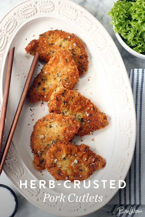 Tired of serving chicken for dinner? Try our Herb-Crusted Pork Cutlets recipe. It's easy to make (ready in 45 minutes) and an easy way to please kids for dinner.