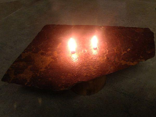 Animated Burning Lamp Oil : Diy burning rock oil candle with mason jar reservoir