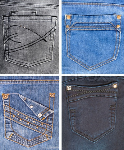 Another collection of jeans pockets.