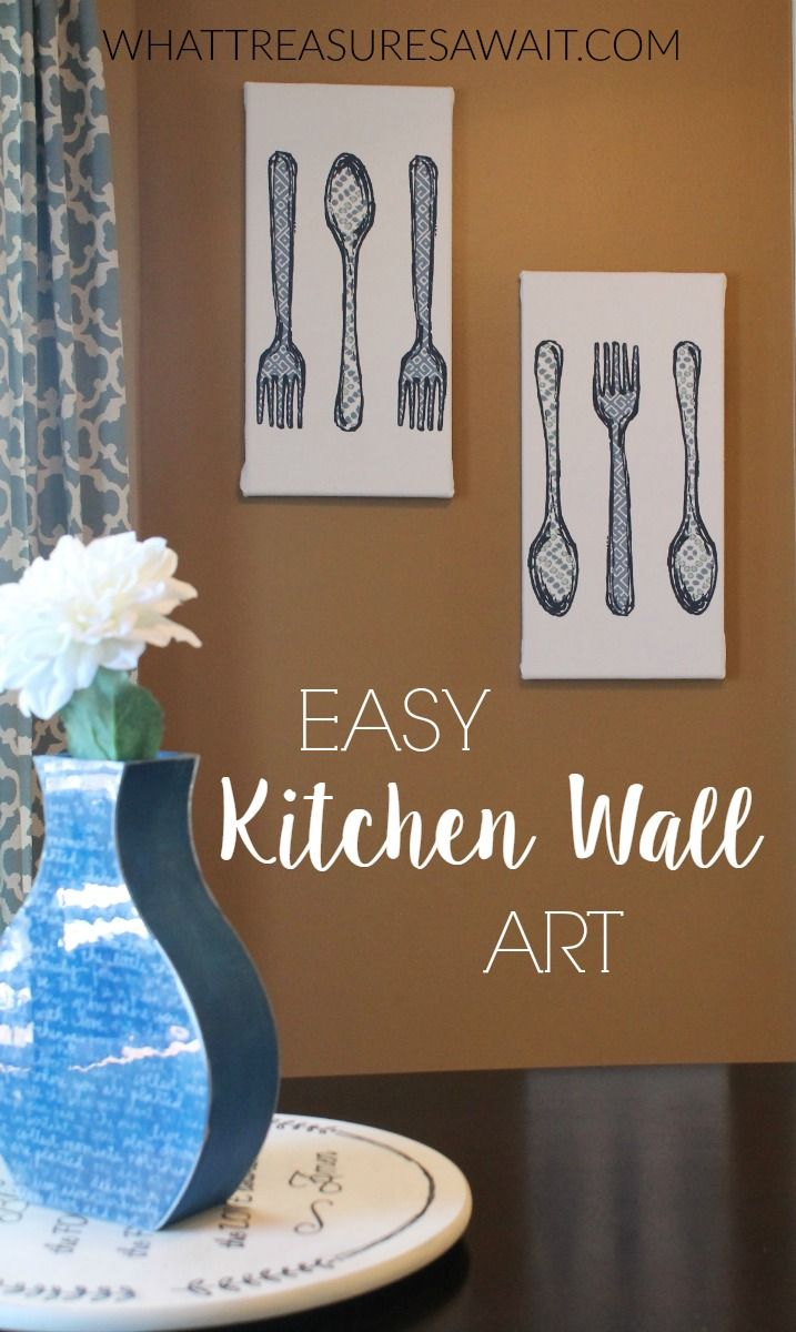 Easy Kitchen Wall Art from a dish towel