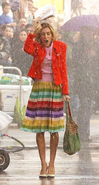 If you can look good, it doesn't matter if you get stuck in an April shower!