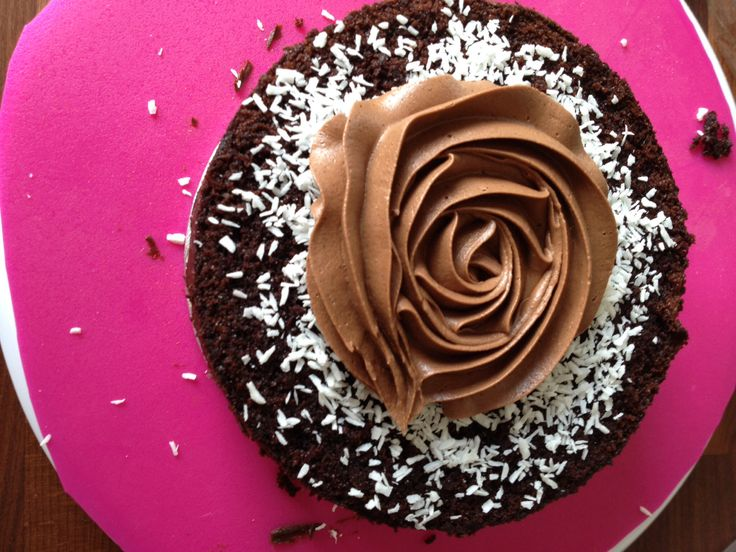 Rich chocolate cake witch nutella buttercream filling and cocos