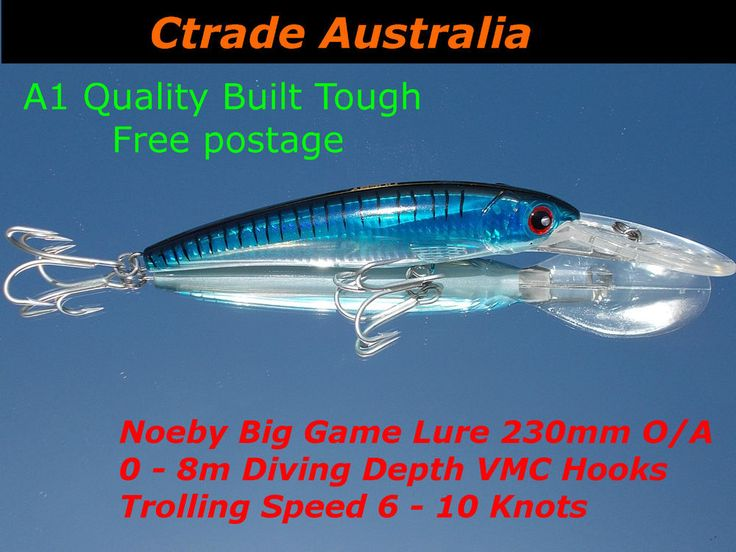 Game fishing Lures Trolling Deep Diving Fishing Lure 0 to 8m 6-10 knts Promo !!!