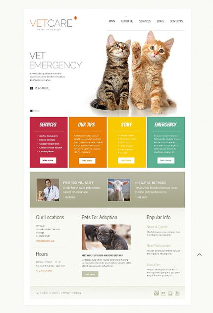 Vet Care - Simplistic Veterinarian Web Page Design  ~ Visit www.robotforce.com for Your very own CUSTOMIZED Version of this Web Design Template! ~