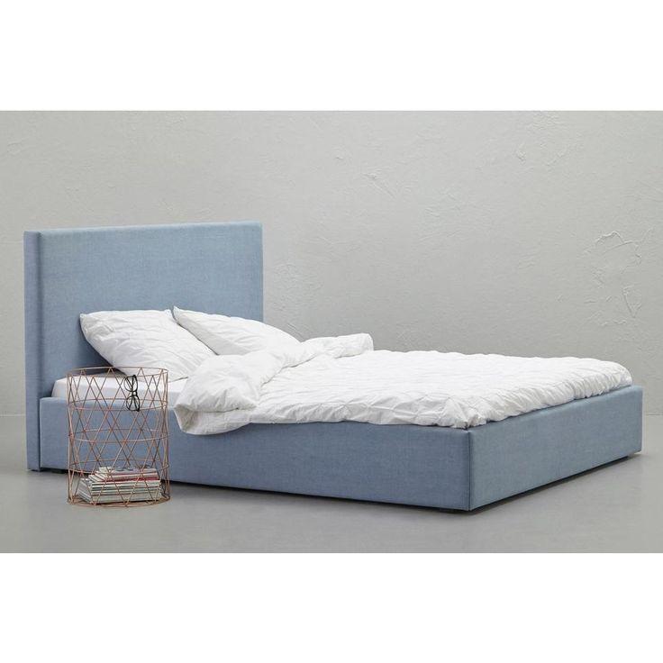 whkmp's own compleet bed Agnes, 160x200, IJsblauw, Incl. lattenbodem en matras