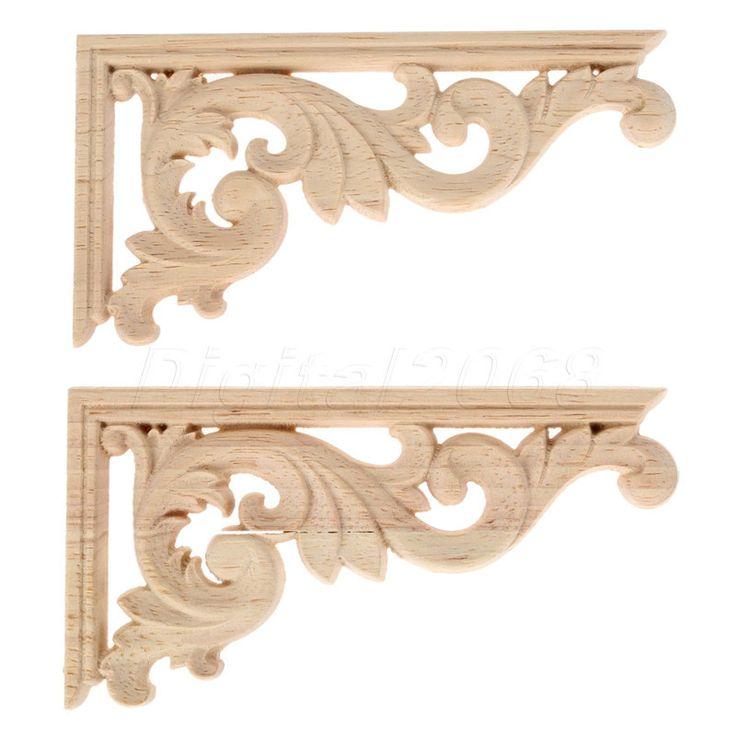 Ucuz 13*7*0.8 CM Sol/Sağ Ahşap Oyma Köşe Onlay Aplike Boyasız Çerçevesi Çıkartması Dekorasyon Mobilya Dekor avrupa Tarzı 4 Adet, Satın Kalite Plaketler & Işaretleri doğrudan Çin Tedarikçilerden:     özellikleri:      100% Yepyeni.güzel ahşap dekoratif çiçek kurulu, hangi duvarları süslemek için kullanılabilir, kap