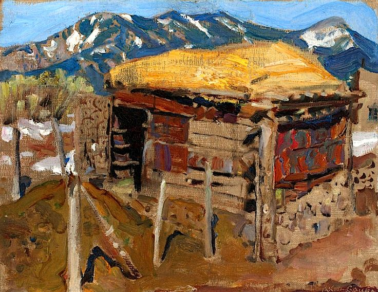 Gallen-Kallela, Akseli Shed in the Taos Mountains, 1925