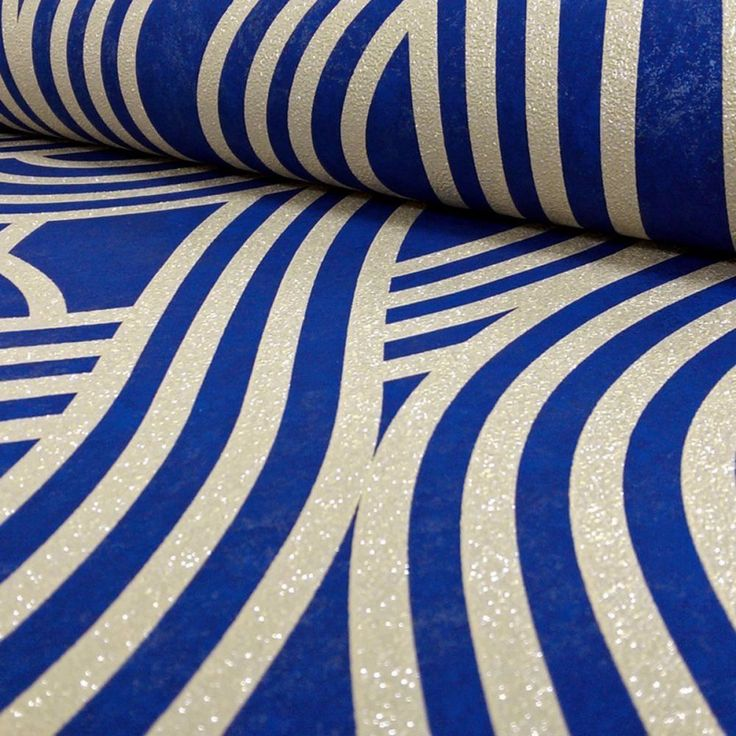 Geometric Glitter Wallpaper Gold and Blue P+S Carat 13345-50