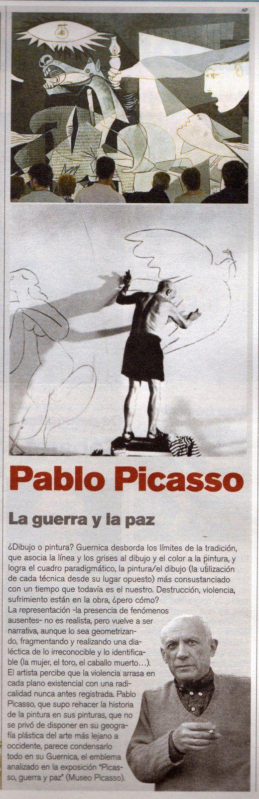 Pablo Picasso _ La guerra y la paz #Guernica
