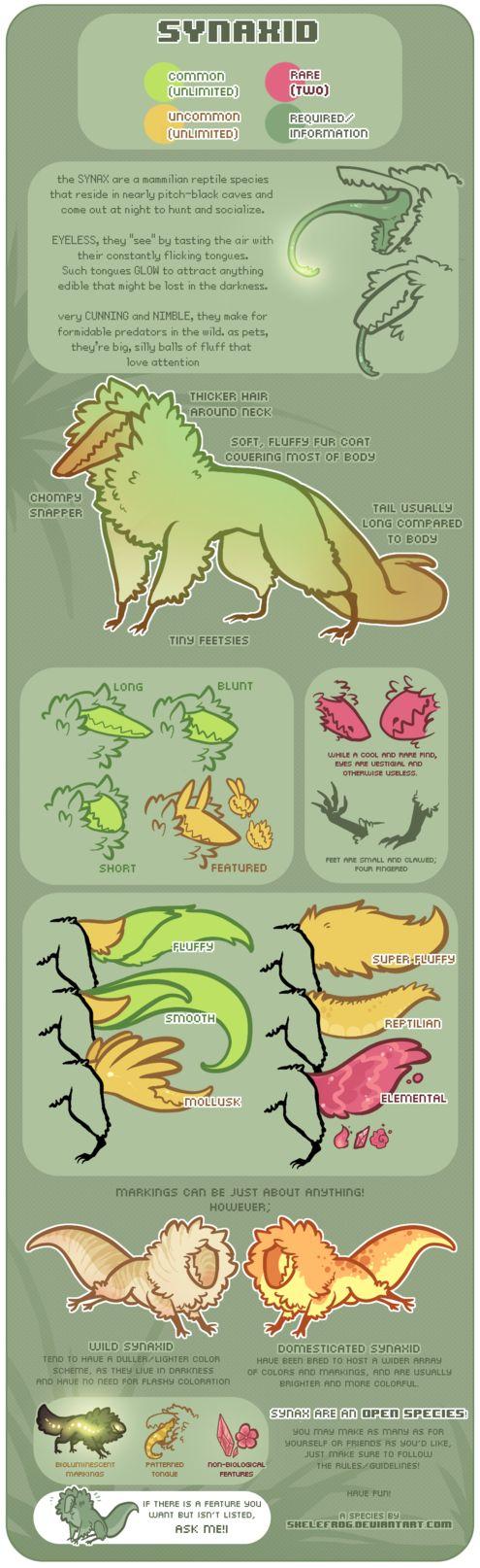 SYNAX - Open Species Guide [RULE CHANGE] by Skelefrog.deviantart.com on @DeviantArt