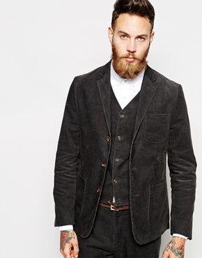 Enlarge ASOS Slim Fit Blazer In Cord