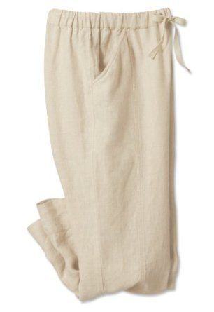 Shoreline Linen Cropped Pant, Oatmeal, Small Orvis. $39.00