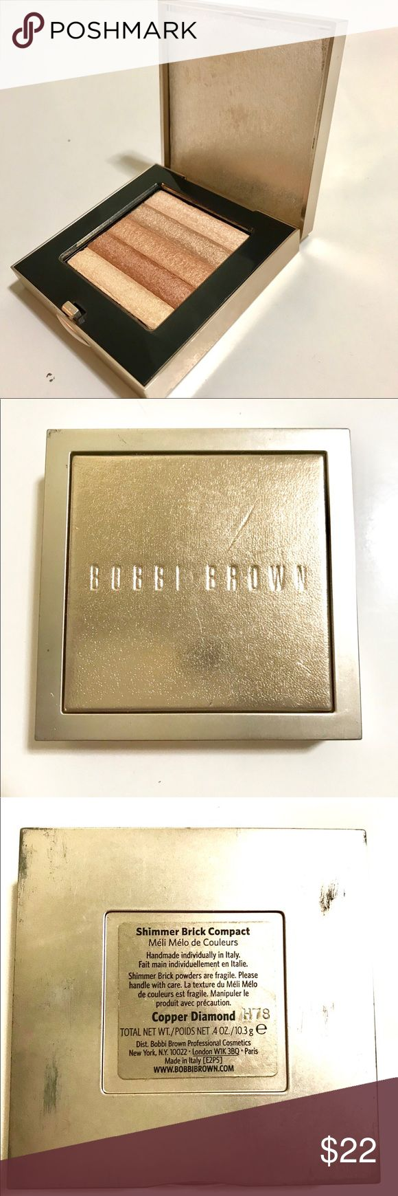Bobbi Brown Shimmer Brick - Copper Diamond Barely used! A few scratches on the outside packaging but makeup is all in tact. Retail price $48. Bobbi Brown Makeup