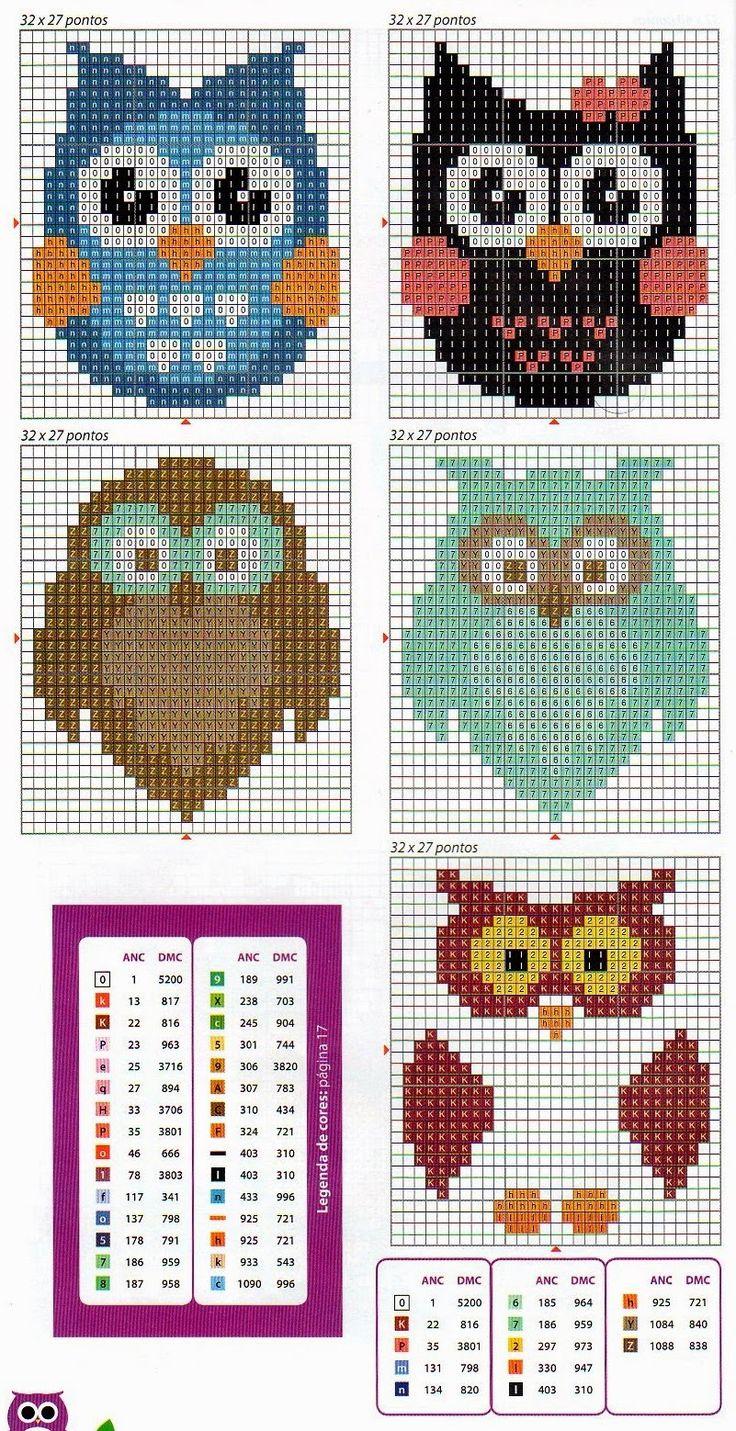 kallana-ponto-cruz-cross-stitch-coruja-13.jpg 801×1,558 pixels