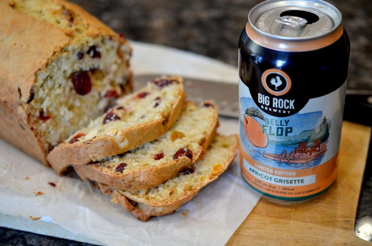 [ Cranberry Apricot Nut Loaf Recipe ] Because sometimes, you just need something a little sweet to snack on. Serve this loaf with butter, a fruit spread, beer, wine, or beer. Yes I said beer twice. Am I wrong? #cookingwithbeer #baking
