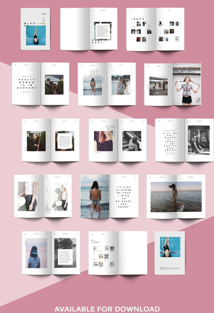 fashion lookbook template  minimal style