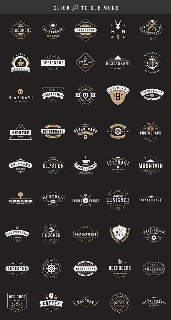 150 Retro Vintage Logotypes - Logos