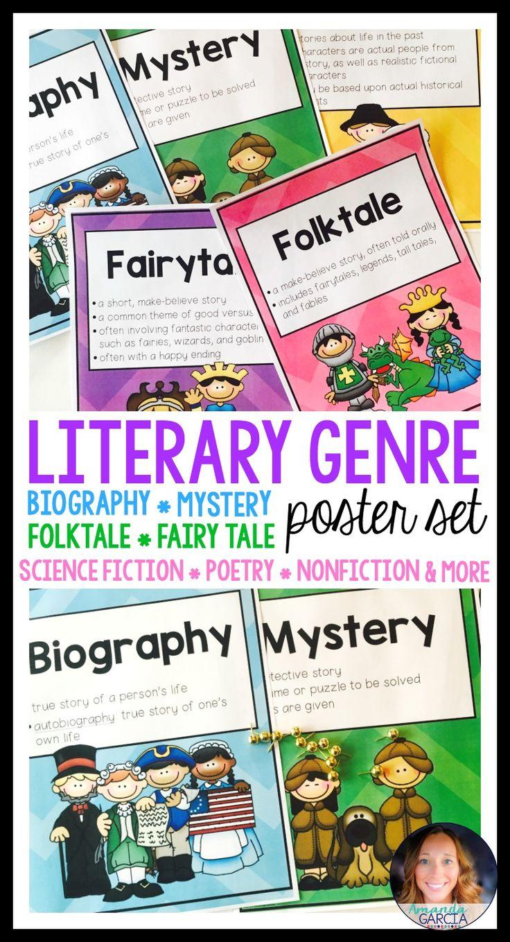 genres of literature worksheets