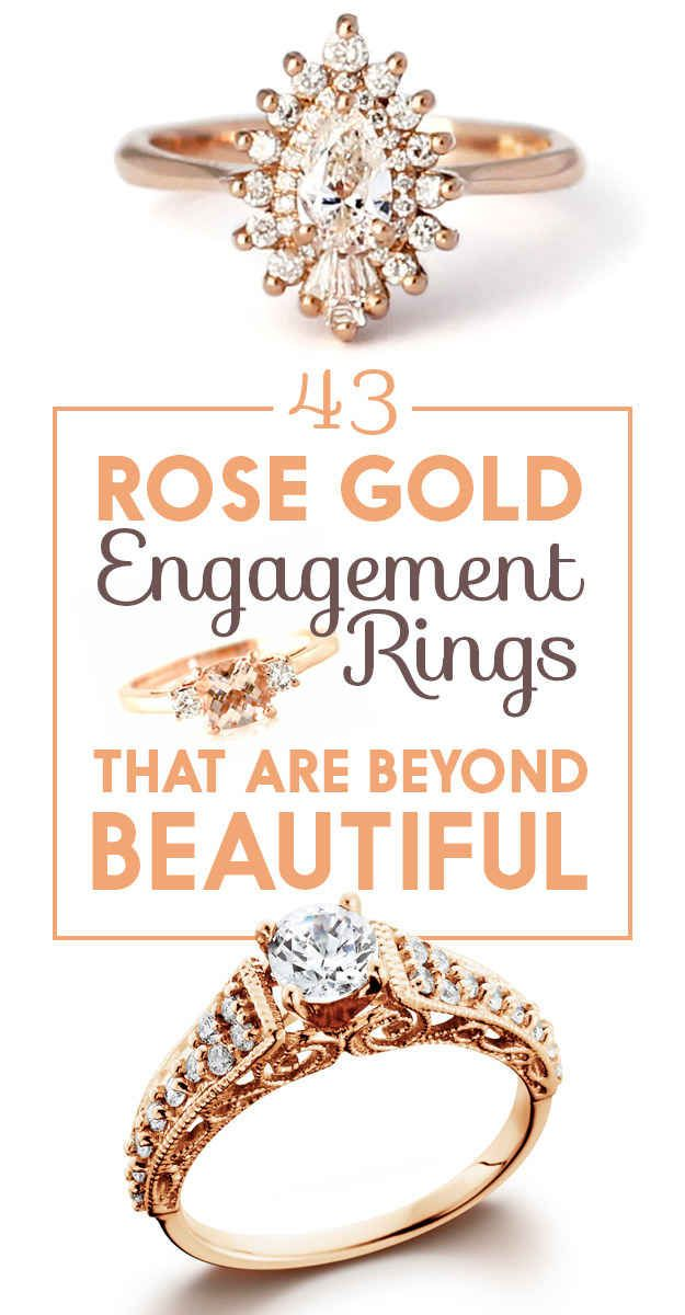 43 Stunning Rose Gold Engagement Rings That Will Leave You Speechless.... Love me some rose gold