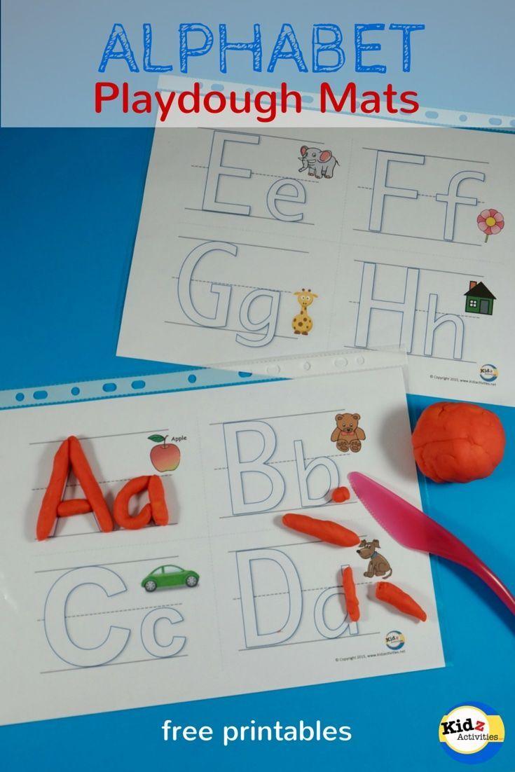 Free Printable Alphabet Playdough Mats - Kidz Activities