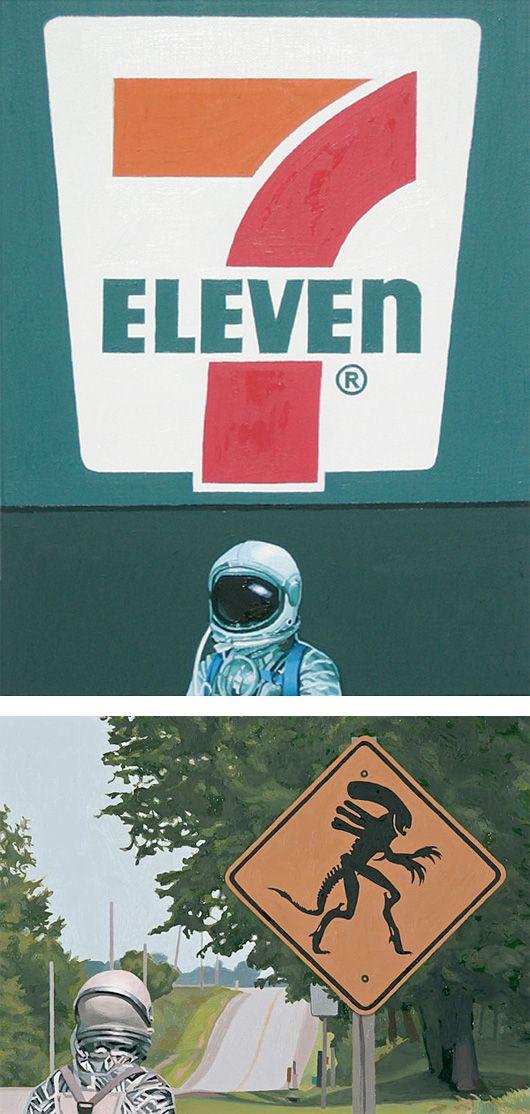 Astronauts & Pop Culture Paintings by Scott Listfield – Inspiration Grid | Design Inspiration