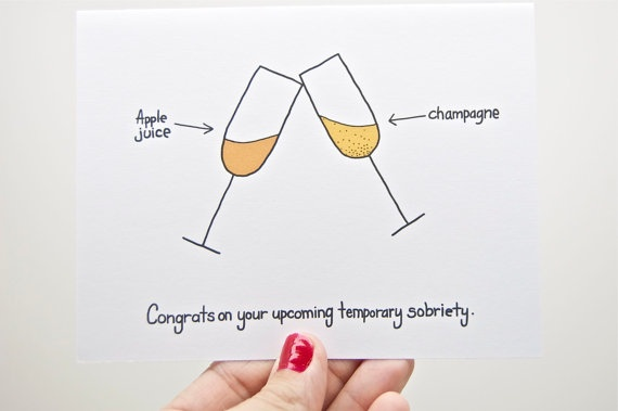 Funny Pregnancy Congratulations Card, New Baby.  Pregnant.  Congratulations Pregnancy.